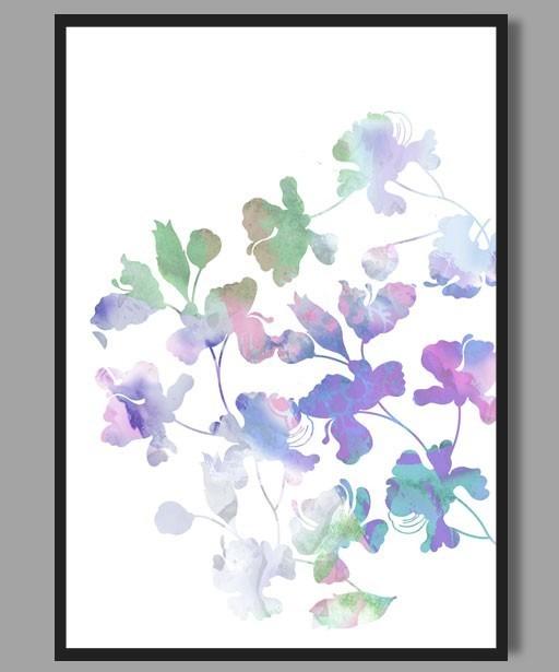 Plakat Akwarelowe kwiaty