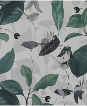 Tapeta botaniczna z ptakami