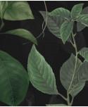 Tapeta botaniczna z ptakami na czarnym tle