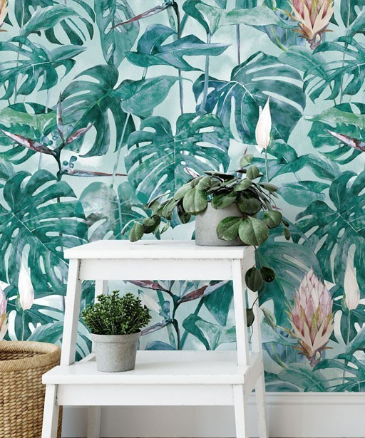 Wallpaper Tropical leaves