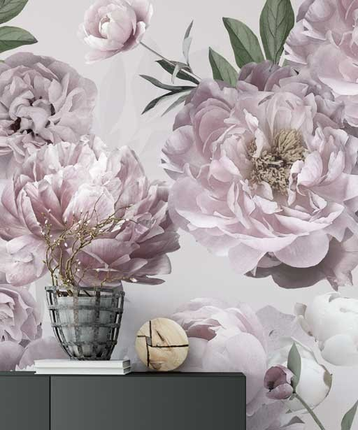 Wallpaper Flowers Artmural Artistic Wallpapers Wallcovering Peonie