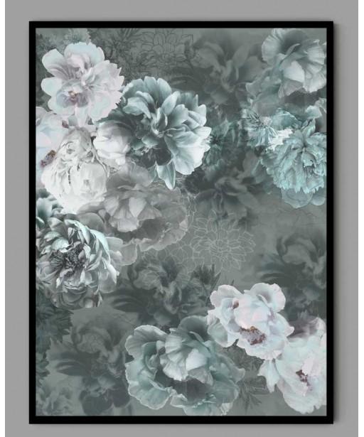 Plakat A3 jesienne kwiaty w ramce