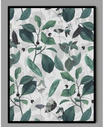 Plakat A3 botaniczny z ptakami