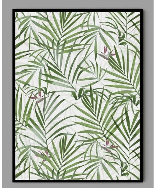 Plakat A3 liście palmy