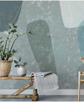 Wabi - sabi wallpaper in blue