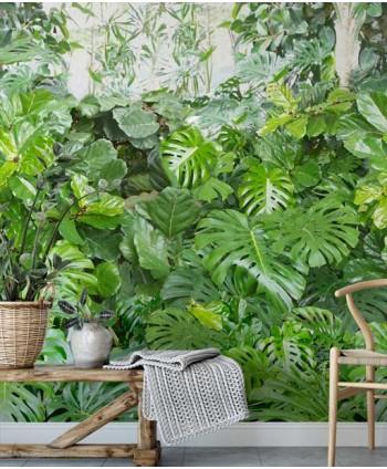 Tapeta zielona ściana roślin