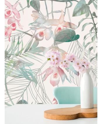 Tapeta tropikalne kwiaty na...