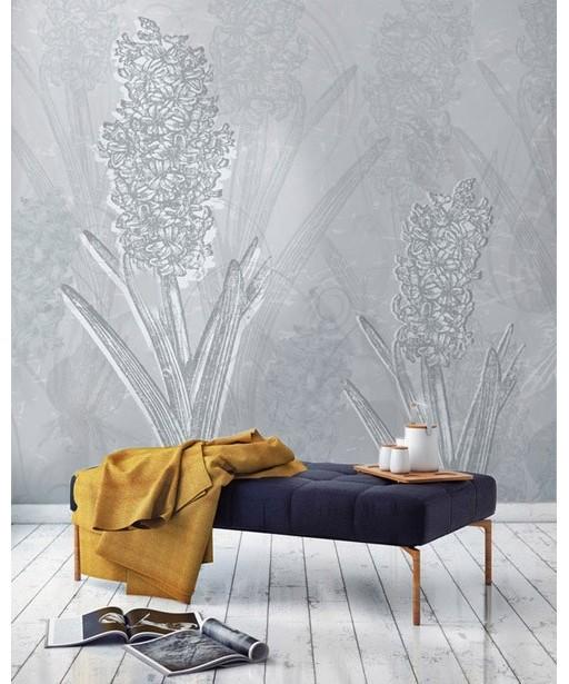 Tapeta w kwiaty - Hiacynty